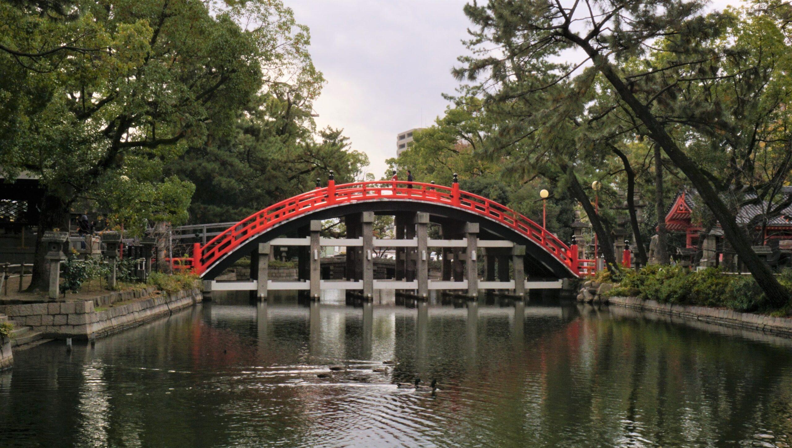 Puente en Sumiyoshi taisha