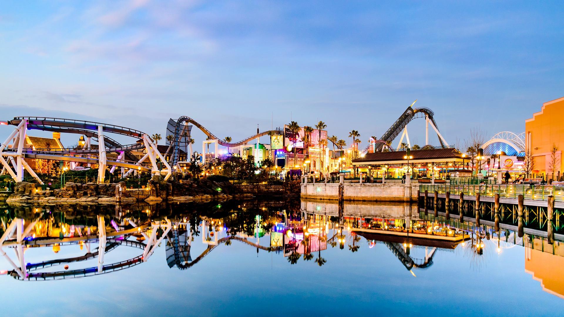 Universal Studios Japón al anochecer