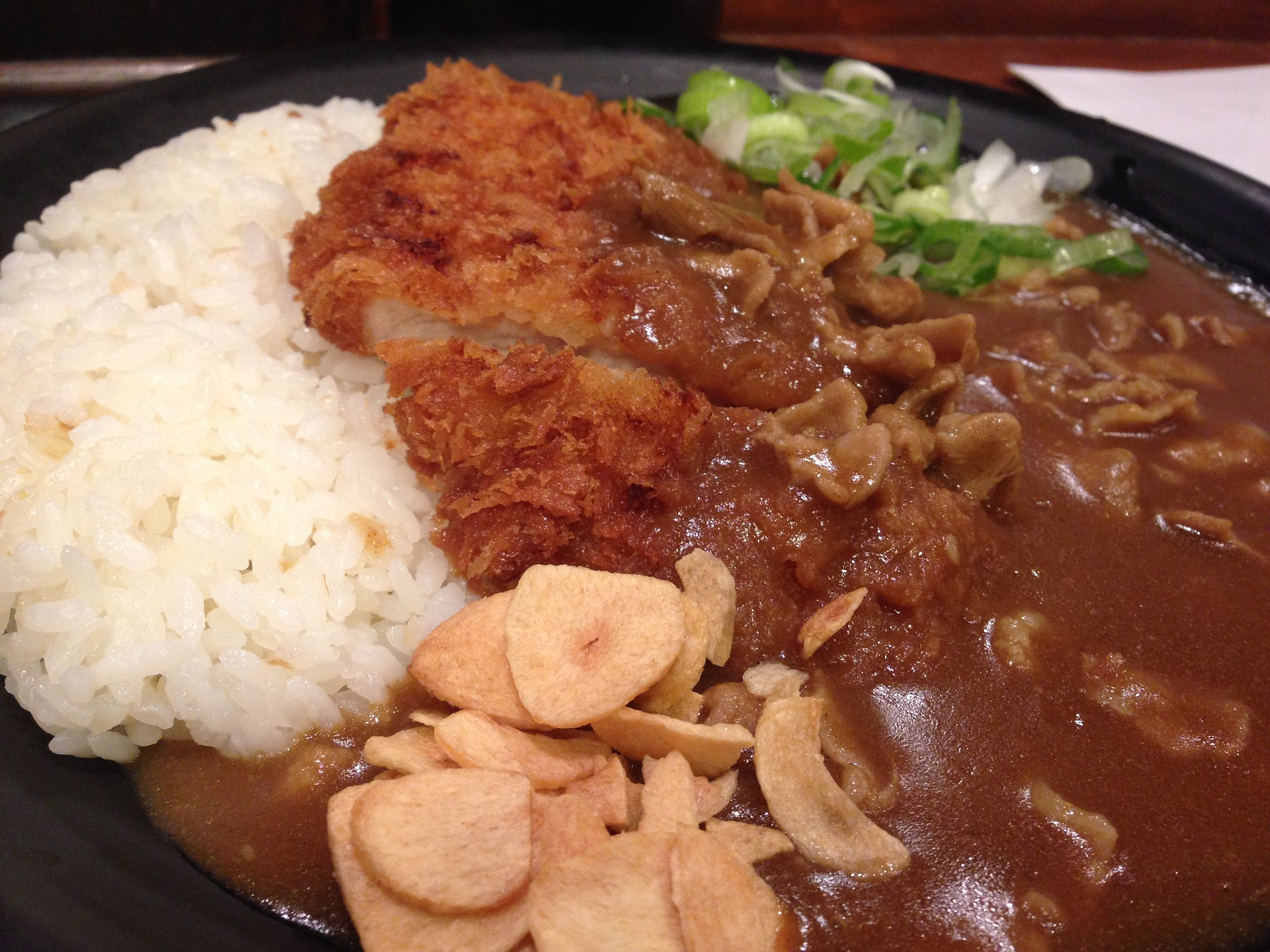 Curry japonés comer en Japón
