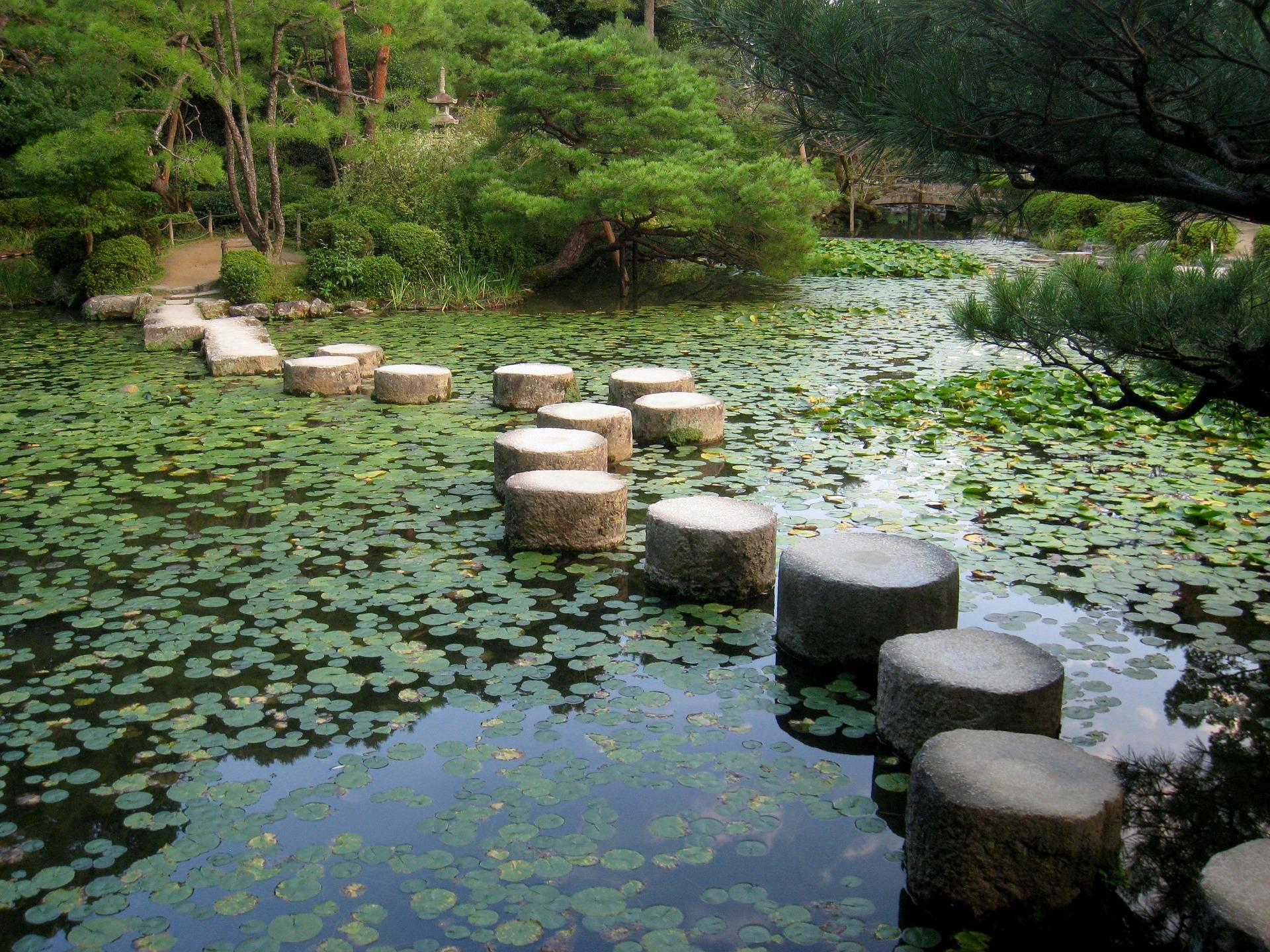 Lago en Heian Jingu