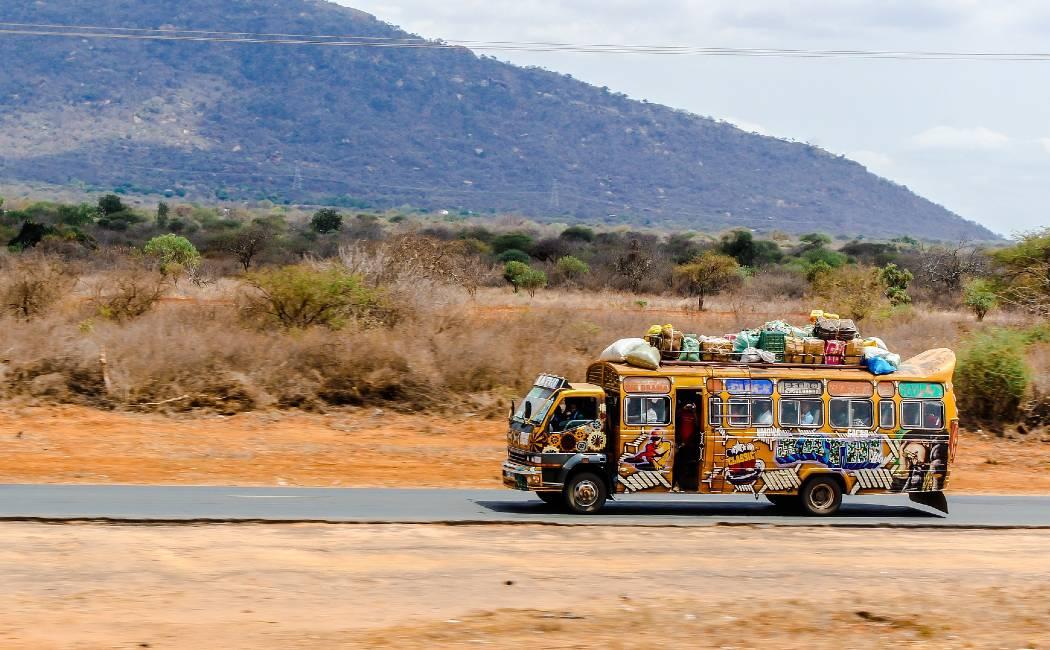 Matatu. Safari en Kenia