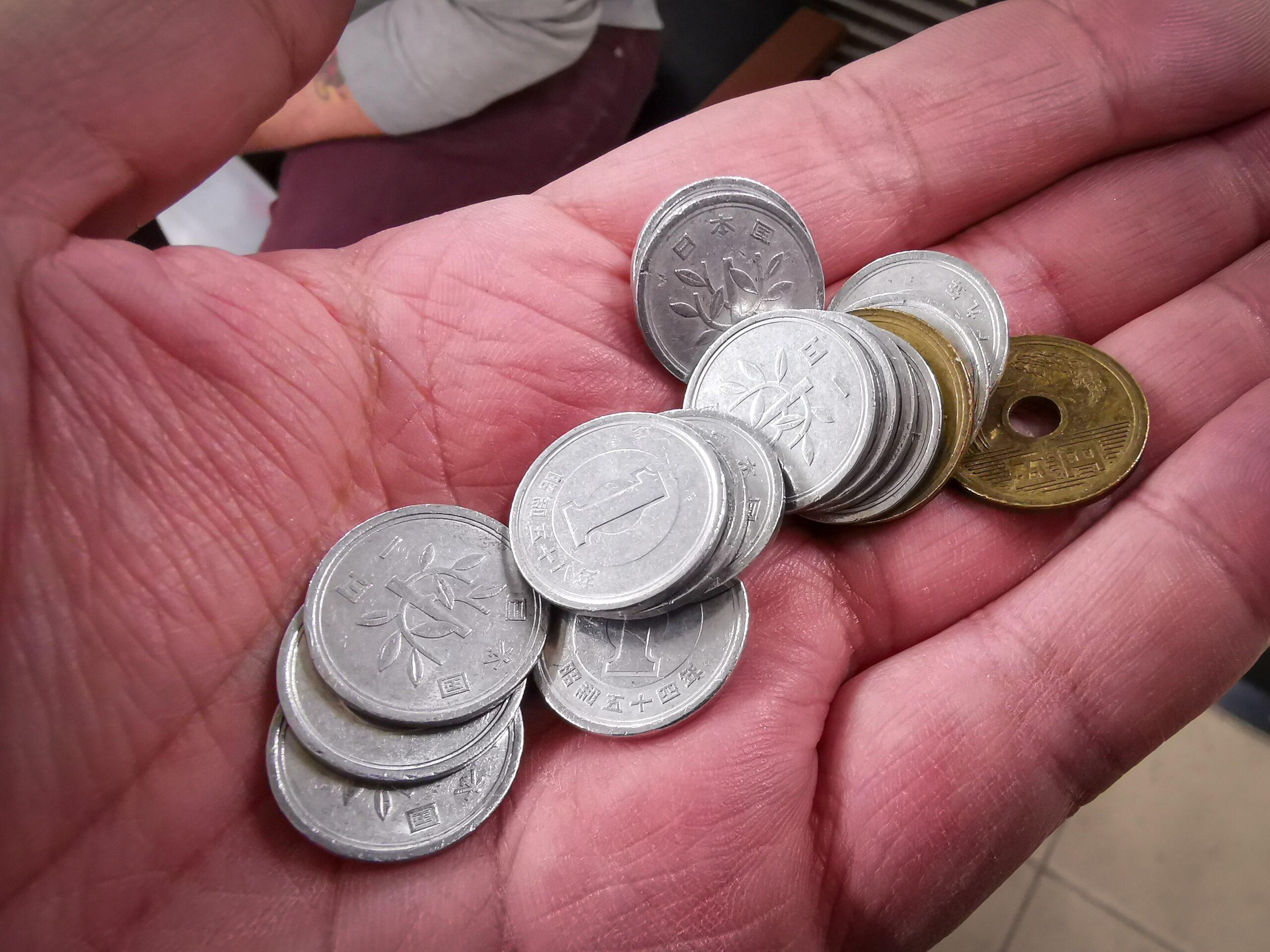 Monedas de 1 y 5 yenes
