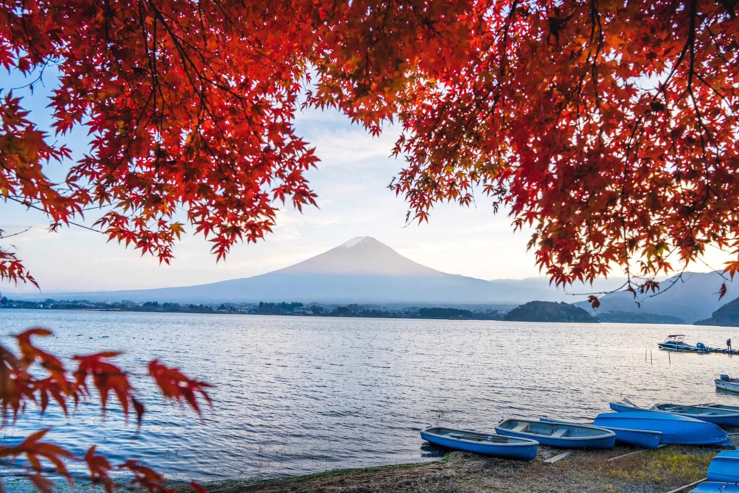 monte Fuji en otoño; imprescindible en tu viaje a Japón