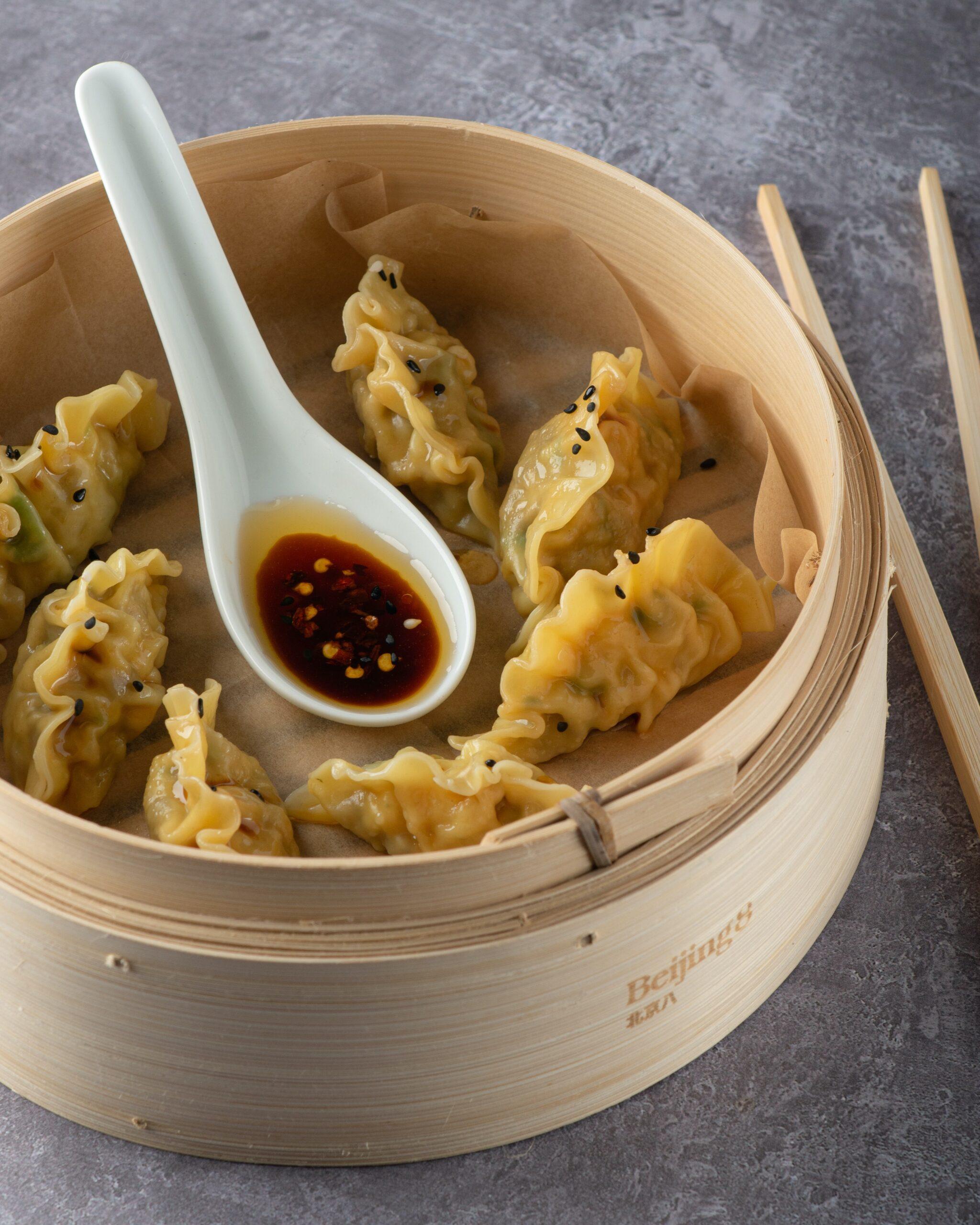 empanadillas chinas, comida en china