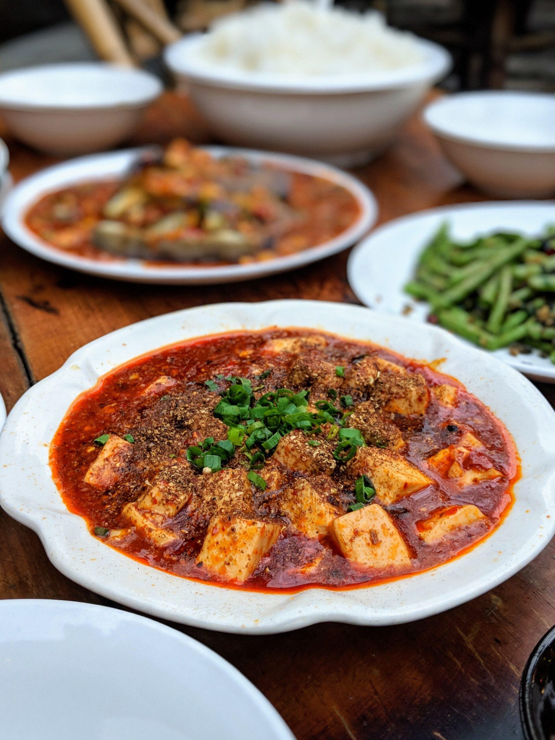 Mapo tofu, comida en china