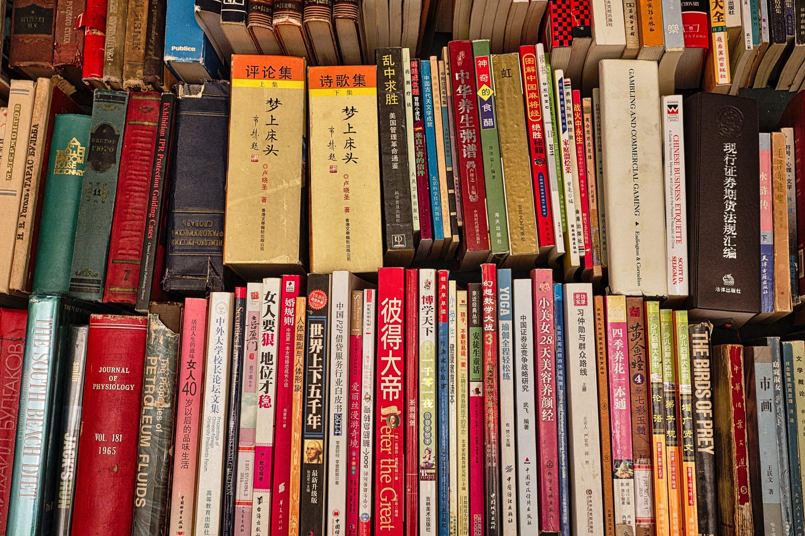 Libros antiguos en el mercado Panjiayuan