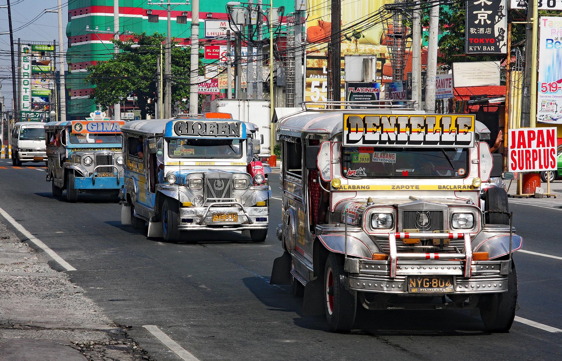 Jeepneys en Manila, Filipinas
