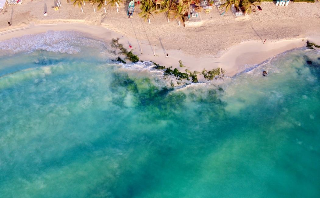 Vista aérea de Playa del Carmen. Viajar Riviera Maya