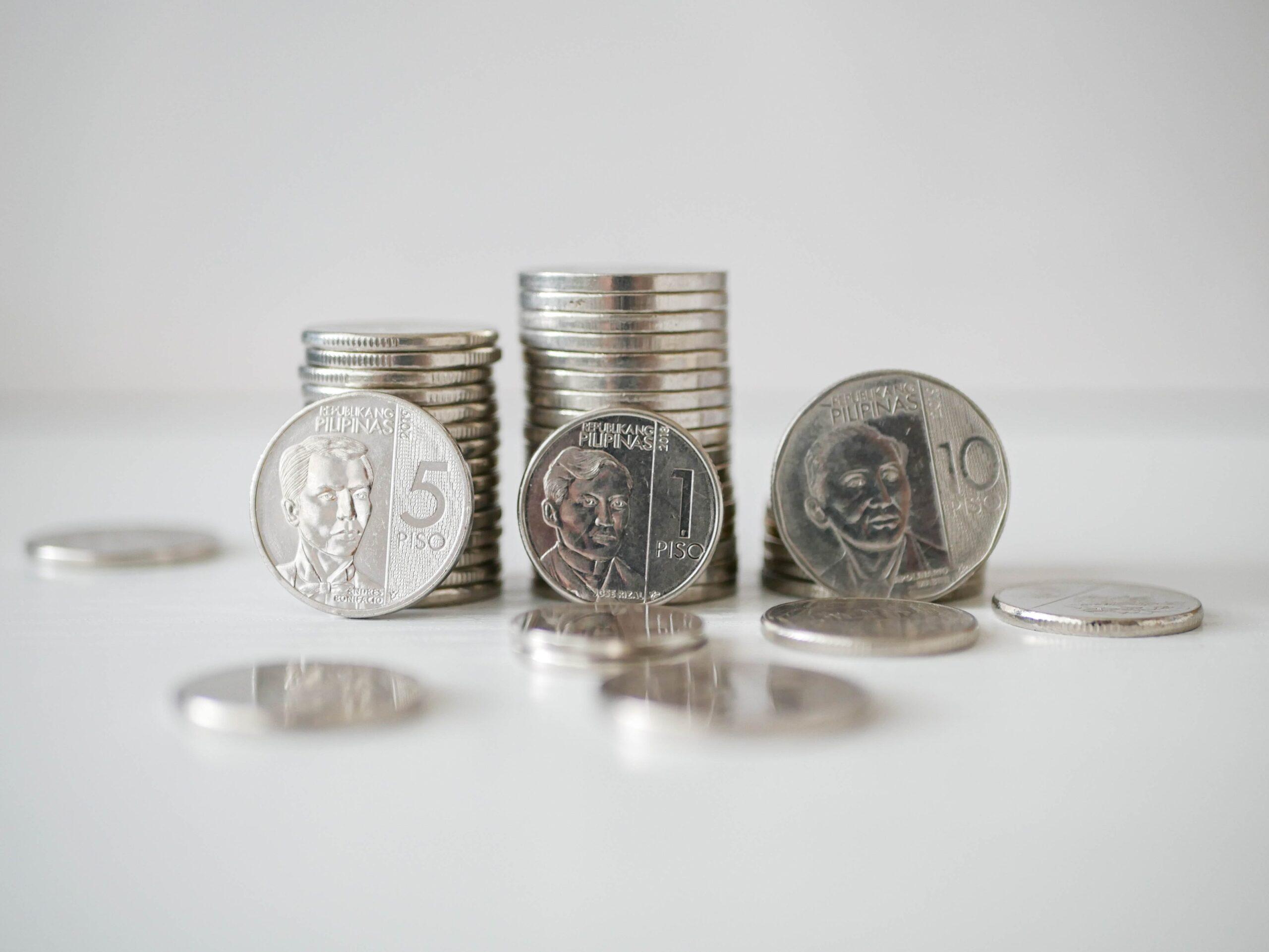 Monedas de pesos filipinos